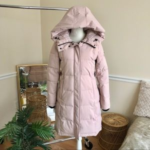 Sam Edelman Hooded Belted Pink Puffer Coat S